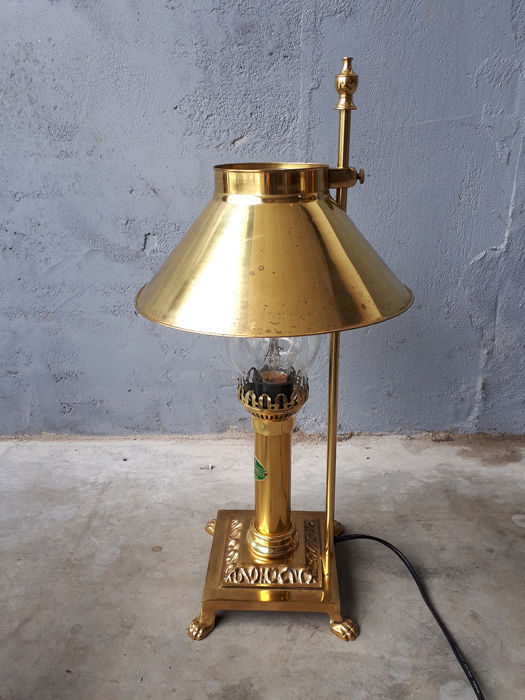 Orient Express Paris-Instanbul lamp in oriental style - brass and glass
