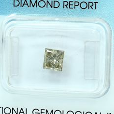 Diamante - 1.01 ct - Princesa - Natural Fancy Light Grayish Brown - SI2
