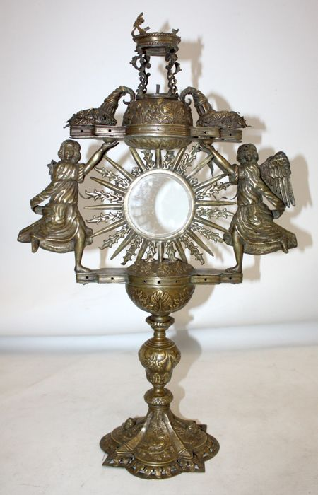 Ostensory (Reliquary) (1) - Gold metal - Second half 18th century