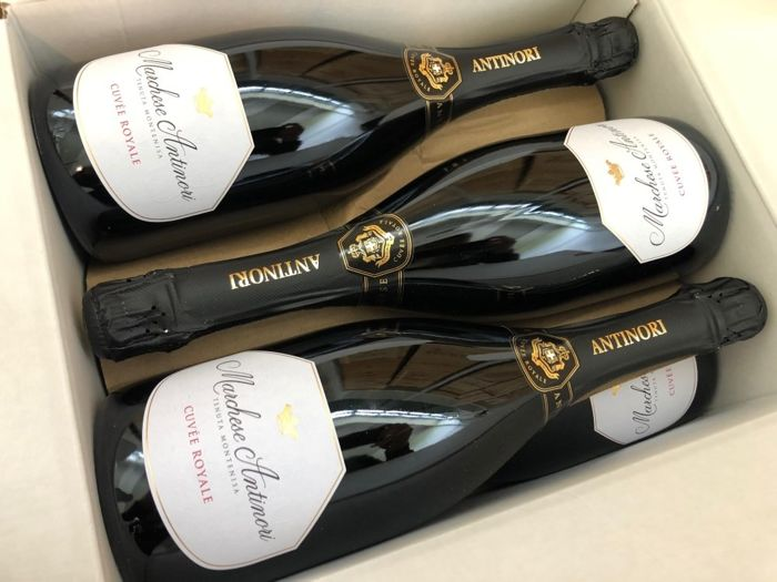 "Marchese Antinori ""Cuvée Royale"" - Franciacorta brut - 6 Flessen (0.75 liter)"