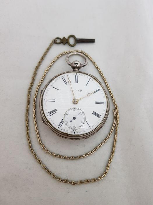 1877 - England - London - Perkin Wakefield - verge fusee movement - silver pocket watch - Uomo - 1850-1900