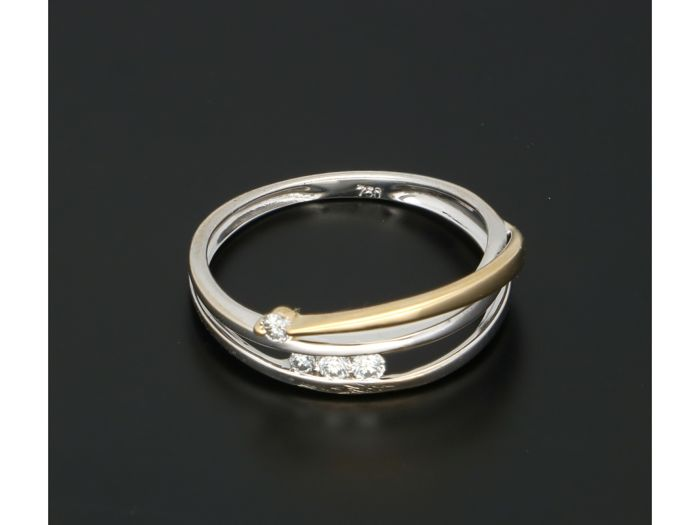 18 quilates Bicolor - Anillo Diamante