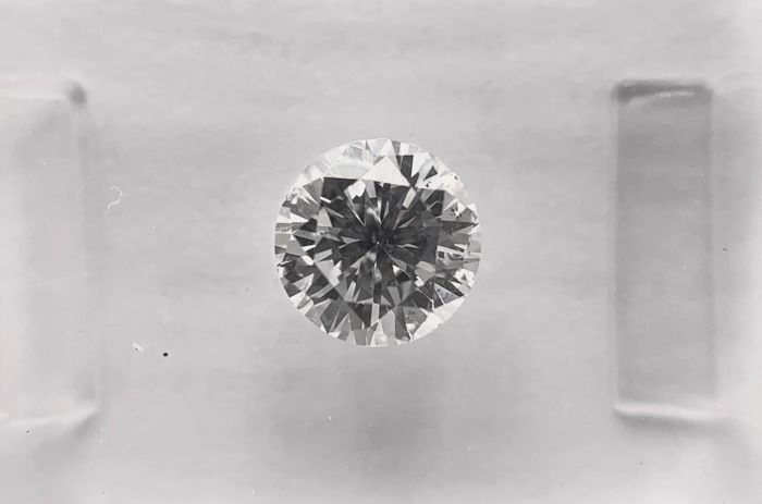 1 pcs Diamant - 0.71 ct - Brillant, Rund - F - SI1