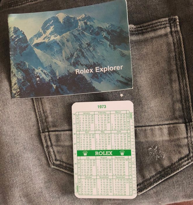 Rolex - explorer - 2x vintage item calendar and booklet  - Unisex - 1970-1979