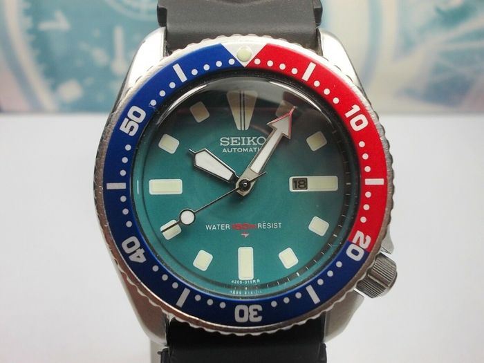 Seiko - Scuba Divers 150M 'Pepsi' - May 1996 model no. 4205-0155 - 'SUG099' - Unisex - 1990-1999