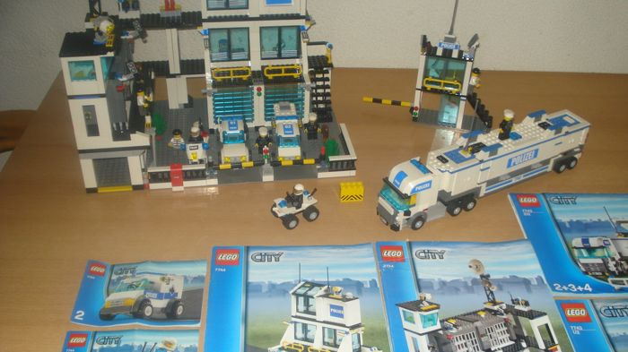 Lego City Police Headquarters And Command Center 7743 7744