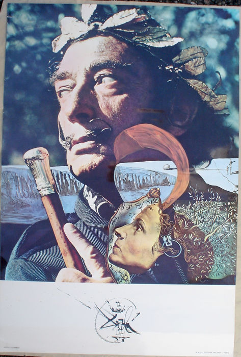 Salvador Dali - Salvador Dali and his Wife Gala - Jaren 1970