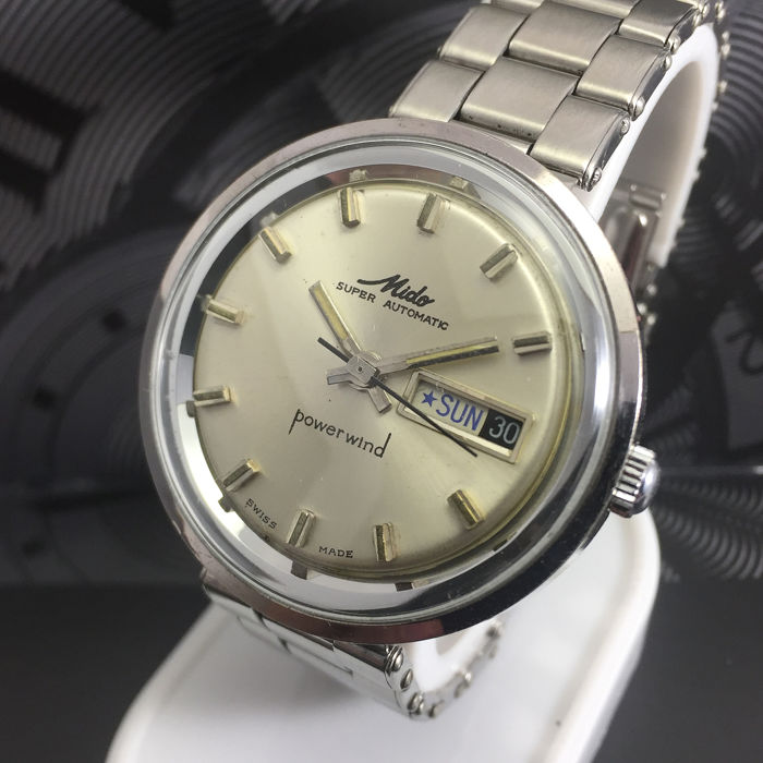 "Mido - Power Wind Super Automatic  ""NO RESERVE PRICE"" - Heren - 1960-1969"