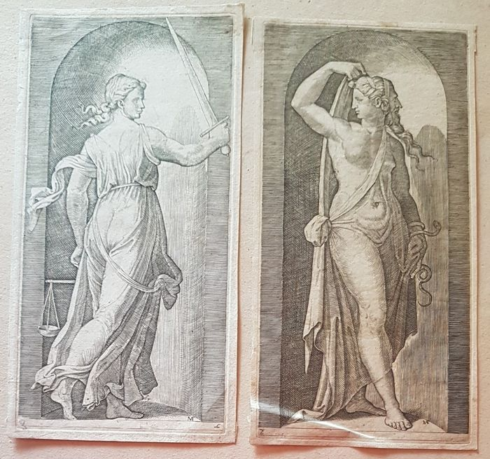 Two engravings after Raphael (1483-1520)  - Sybils