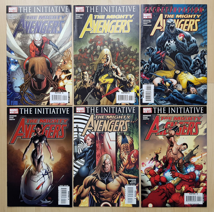 NEAR MINT COMPLETE SET 2007 MIGHTY AVENGERS #1-36 VERY FINE
