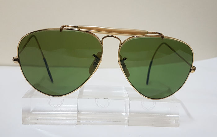 Bausch and Lomb Ray Ban USA  - Aviator Outdoorsman - Cable Temple - RB3 Sunglasses