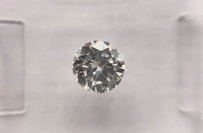 1 pcs Diamante - 0.51 ct - Brillante, Redondo - G - VVS2