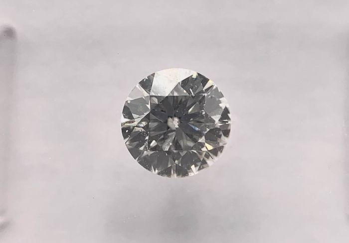 1 pcs Diamant - 0.51 ct - Brillant, Rund - G - SI1