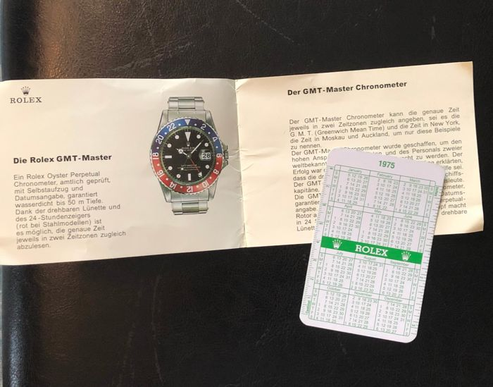 Rolex - gmt 1675 - 2x vintage item booklet and calendar  - Unisex - 1970-1979