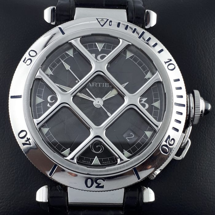 Cartier - Pasha Grill Automatic  - 2379 - Heren - 2000-2010