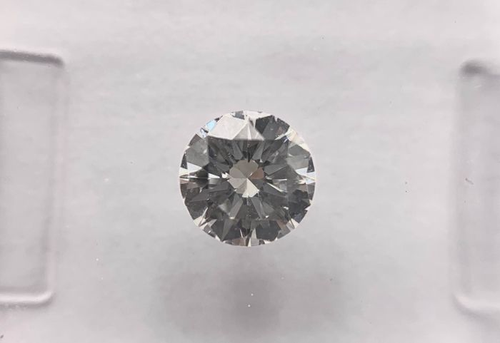 1 pcs Diamant - 0.50 ct - Briljant, Rond - H - VVS2