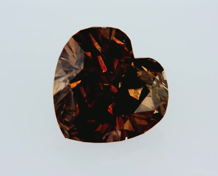 1 pcs Diamant - 2.01 ct - Herz - Fancy Deep orange braun - SI1