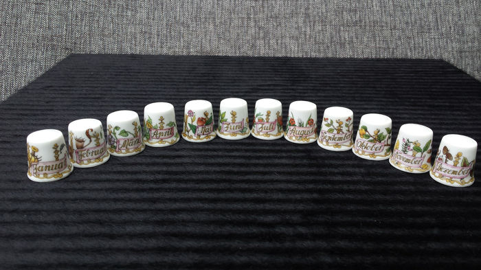 Hutschenreuther - 12 months of the year, Thimbles - Porcelain
