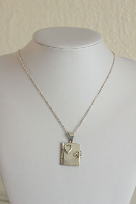 925 Silver - Necklace with pendant, Locket