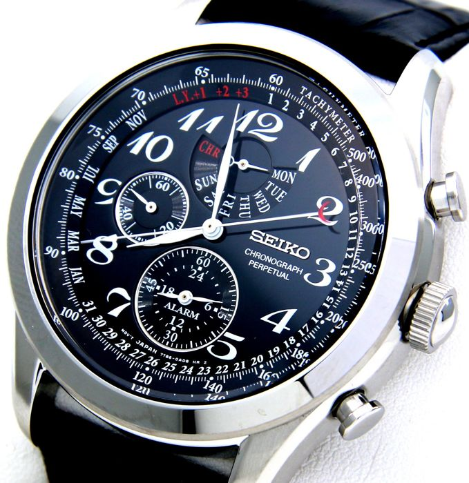 "Seiko - Chrono Perpetual Calendar Black - - ""NO RESERVE PRICE"" - - Men - 2011-present"