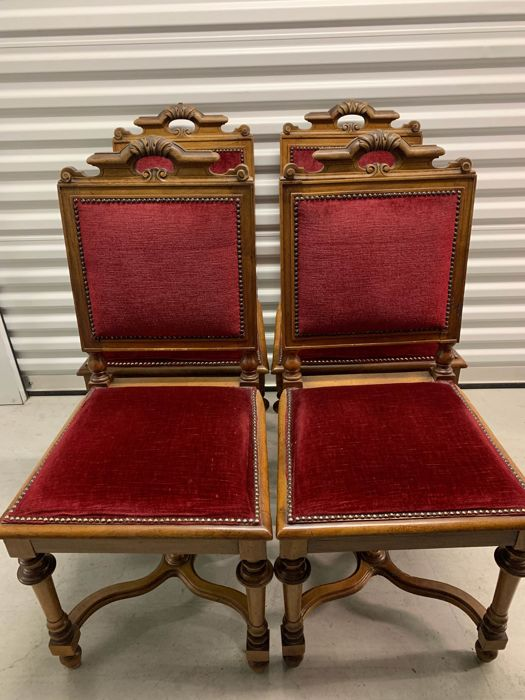 Seating group (4) - Victorian - Wood - circa 1900