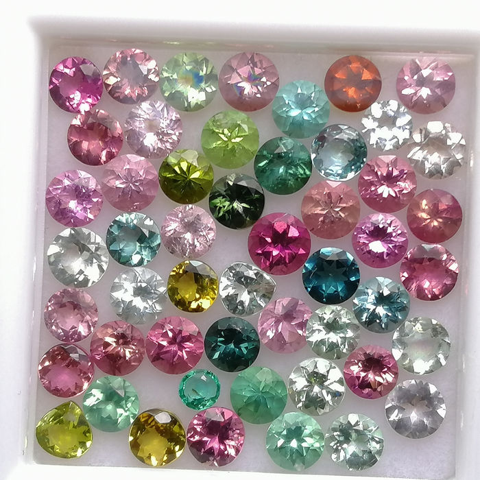50 pcs  Turmalina - 6.13 ct