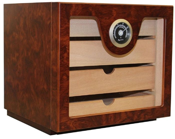 ANGELO - Humidor Cabinet for 60 Cigars 4 Drawers
