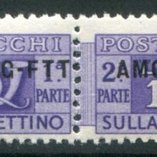 Triest - Zone A 1949 - AMG-FTT - 10 lire violet new overprint - Sassone N. 18/A