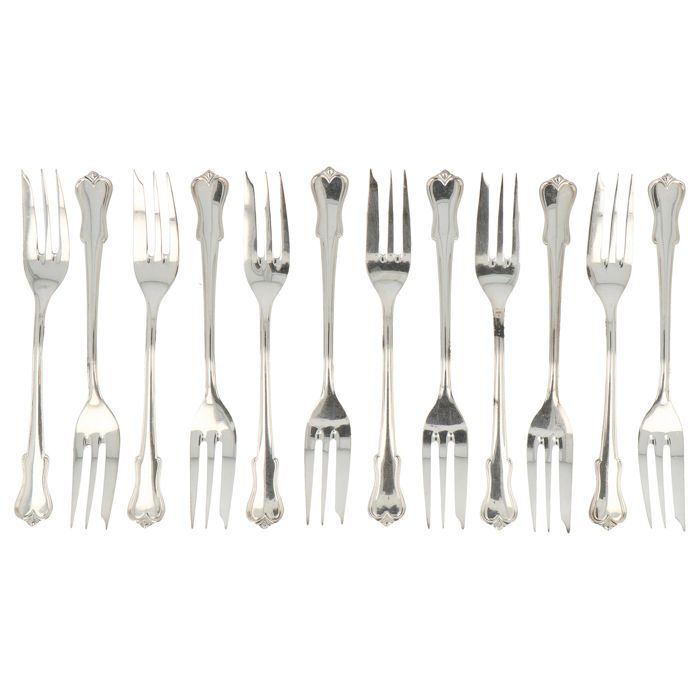 Fork (12) - .835 silver - Otto Kaltenbach - Germany - mid 20th century
