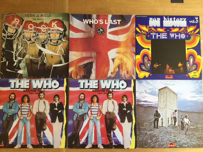 Who - 6 x LPs Rarities Vol. 1 & 2, Pop History, Who's Next.... - Diverse titels - 2xLP Album (dubbel album), LP Album - 1972/1984