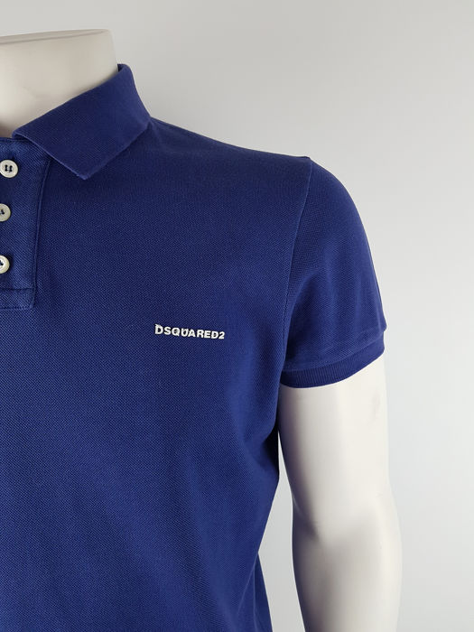 034fcb0fbd978f Dsquared - logo patch polo shirt - slim fit - Catawiki