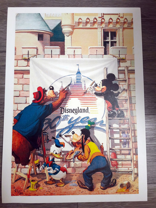Charles Boyer - Lithograph -  Disneyland 30th Year - Loose page - (1985/1985)