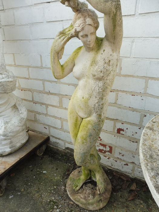 Garden image naked woman (1) - concrete cement - 20th century