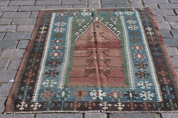 Yuruk - Old Turkish Kilim from Konya Obruk - 163 cm - 122 cm