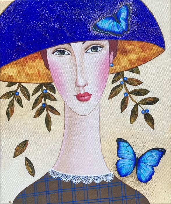 Darya Koltsova -  Elizabeth and butterflies