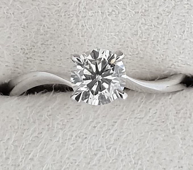 14 kt. White gold - Ring - Clarity enhanced 0.70 ct Diamond