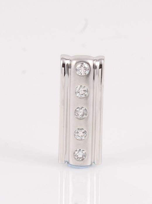 14 kt. White gold - Pendant - 0.20 ct Diamond