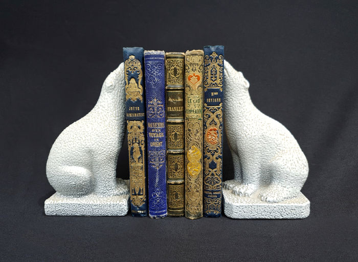 Par, de, urso polar, bookends