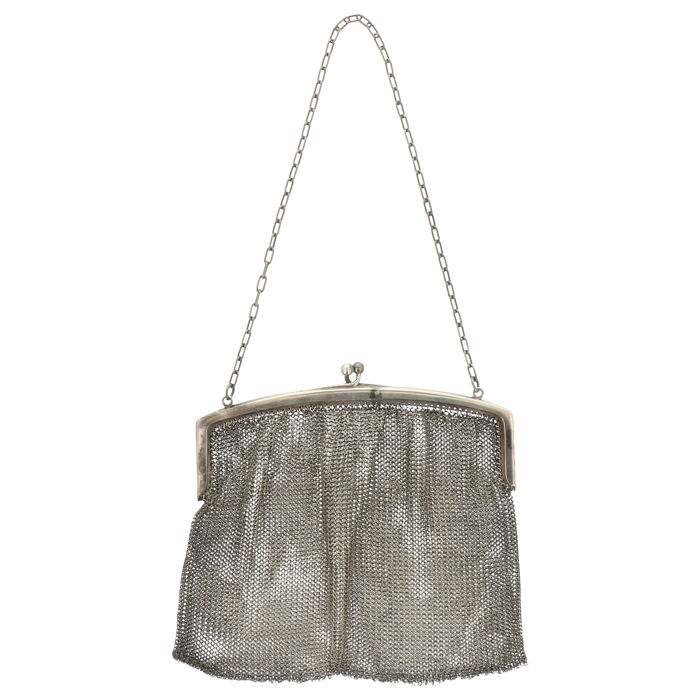 Swing bag - .800 silver - Lutz & Weiss - Germany - First half 20th century