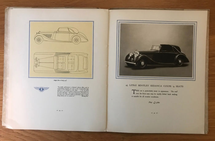 Brochures / catalogues - 1937 Bentley  4.25 Sports Tourer, Saloon,Coupe Full Original catalogue - 1937-1937