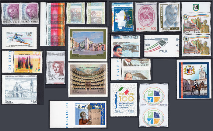 Italy Republic 2002/2018 - Lot of variety stamps (EURO period)