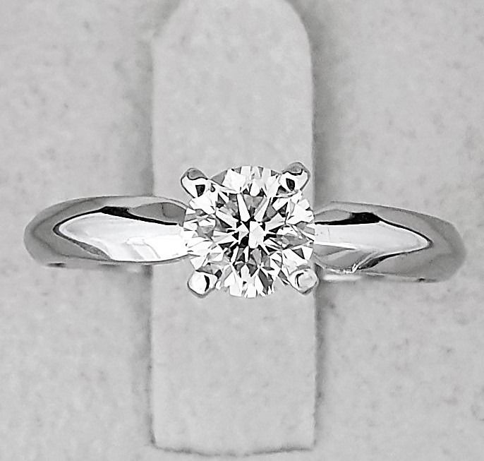 14 kt. White gold - Ring - Clarity enhanced 0.71 ct Diamond