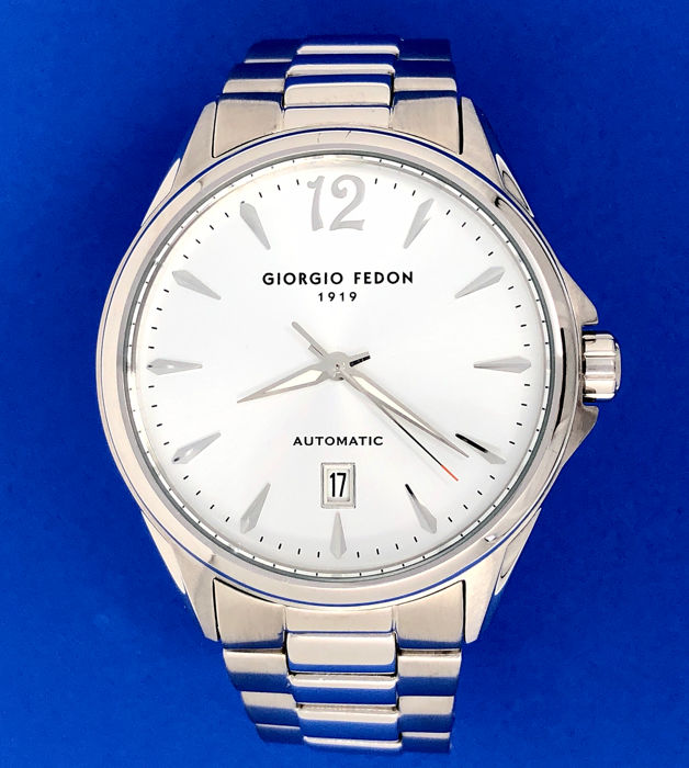 "Giorgio Fedon 1919 - Mechanical V Stainless steel White ""NO RESERVE PRICE"" - GFAT003 - Heren - Brand New"