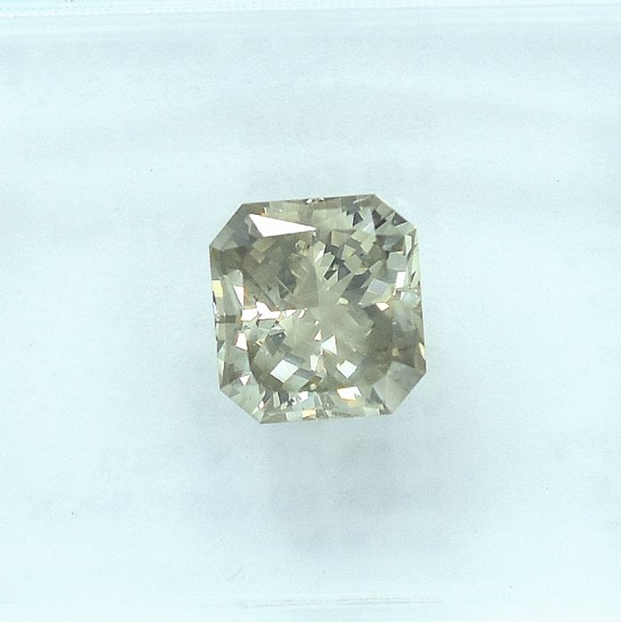 Diamant - 1.01 ct - Cut Cornered Rect.Mod Brilliant - Natural Fancy Light Grayish Brown - I1