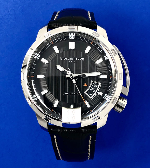 Giorgio Fedon 1919 - Mechanical Automatic Timeless V Stainless steel Black Leather Strap  - GFBP002 - Senhora - Brand New