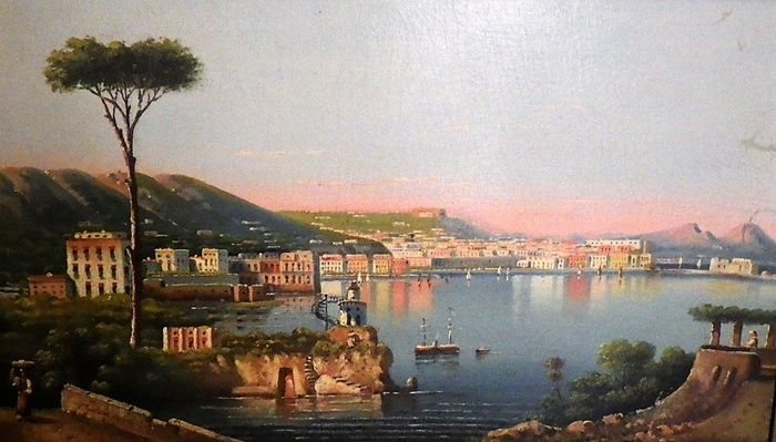 PASQUALE AVALLONE ( Italy 1884 - 1965 ) - VIEW OF NAPLES