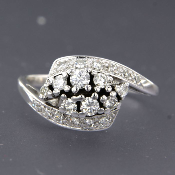 14 quilates Oro blanco - Anillo - 0.50 ct Diamante
