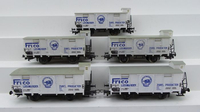 "Liliput H0 - 25 340 - Freight carriage - 5x refrigerated wagons ""Frico Leeuwarden"" - NS"