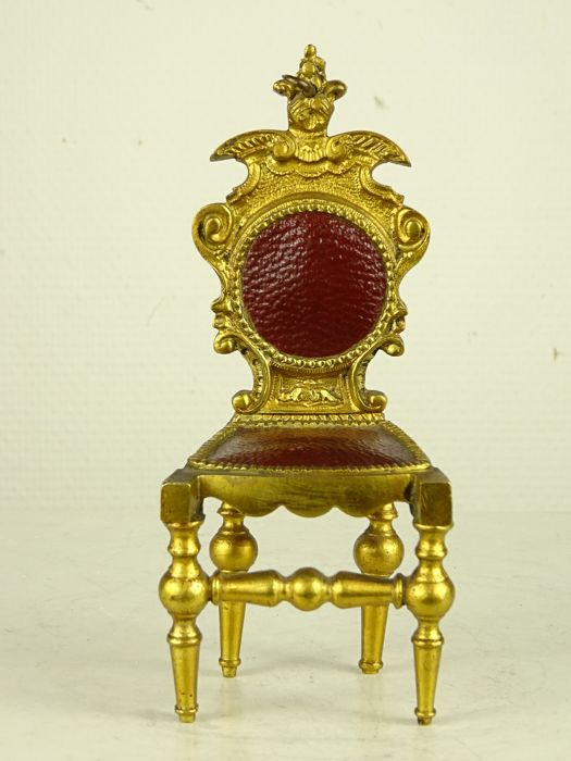 Pocket watch holder - Bronze (gilt) - Late 19th century