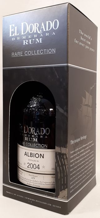 """El Dorado 2004 14 years old - """"Albion"""" Vintage rum - Rare Collection - Limited Edition - Cask Strenght 60.1%  - 70cl"""